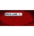 brick lane wall vector image vector image