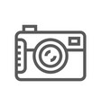 camera line icon vector image