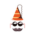 carnival hat accessory with sunglasses and vector image vector image