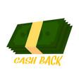 cash back background vector image vector image