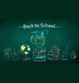 chalked poster with education symbols vector image vector image