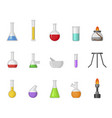 chemical lab equipment flat vector image