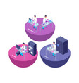 chemistry 3d isometric research lab with chemical vector image vector image