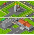 Church State Edifice Isometric 2 Banners vector image vector image