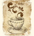 coffee cup card vector image vector image