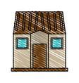 color crayon stripe image facade comfortable house vector image vector image