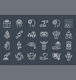 conscious living and friends relations icons set vector image vector image