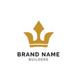 crown gold logo concept creative minimal design vector image