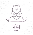 cute silhouette yoga bear vector image