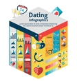 Dating Infographics Set vector image vector image
