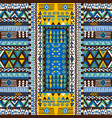 doodle african pattern with geometric motifs vector image vector image