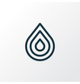 drop icon line symbol premium quality isolated vector image
