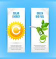 ecology vertical banners in paper style vector image vector image