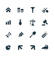 economy icons set vector image