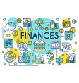 finance concept thin line style business vector image vector image