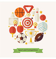 Flat Style Sport Recreation and Competition vector image vector image