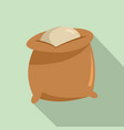 flour bag icon flat style vector image