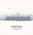 forest mountain vector image