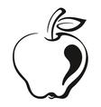 Fruit Apple Black Pictogram vector image