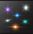glowing lights and stars colorful bright lens vector image