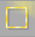 gold frame with shadow with gold dust vector image vector image