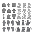 graveyard sketch collection vector image vector image