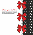Greeting Card with Bows vector image vector image