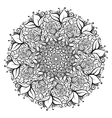 Hand drawn ornate rose flower in the crown of vector image