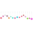 Hanging colorful flowers vector image vector image
