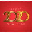 happy new year 2020 vector image vector image