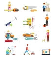 Icons Set of Tools Series vector image vector image