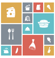 icons tile food vector image