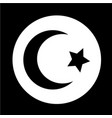 islam star crescent icon vector image