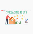 knowledge and ideas spreading education insight vector image vector image