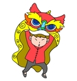 Lion dance for Chinese New Year vector image