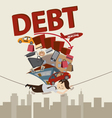 Living with debt vector image vector image