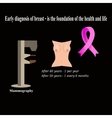 Mammography Diagnosis of breast cancer Diagnosis vector image vector image