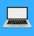 modern laptop with blank screen vector image