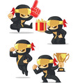 Ninja Customizable Mascot 17 vector image vector image