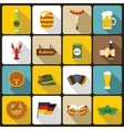 Oktoberfest icons set flat style vector image vector image