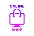 online shop online store logo logotype for vector image vector image