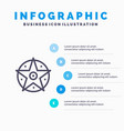 pentacle satanic project star blue infographics vector image vector image