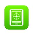 radar icon digital green vector image