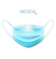 realistic protective medical face mask front view vector image vector image