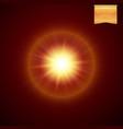realistic yellow orange supernova star explosion vector image