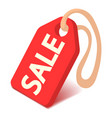 sale badge icon isometric 3d style vector image vector image