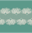 seamless white flower lace border lace ribbon vector image vector image