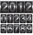 set of numbers on mechanical timetable vector image vector image
