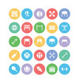 Sports Colored Icons 5 vector image vector image