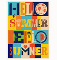 summer typographic grunge vintage poster vector image vector image